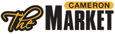 A theme logo of The Cameron Market