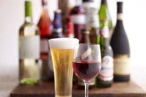 Photo of beer, wine and liquor.